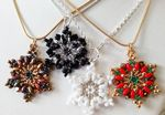 BLACK Snowflake Christmas Necklace beading Kit